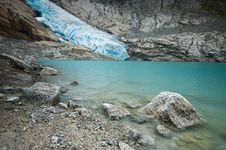 Free Bryksdalsbreen Glacier Royalty Free Stock Photography - 3861847