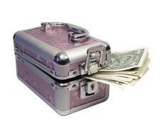 Free Pink Cascet With Money Royalty Free Stock Image - 3861906