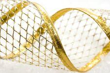 Free Golden Christmas Ribbon Royalty Free Stock Image - 3862546