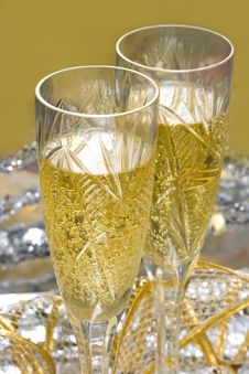 Free Glasses With Champagne Royalty Free Stock Image - 3862826