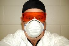 Free Forensic Scientist. Stock Images - 3863094