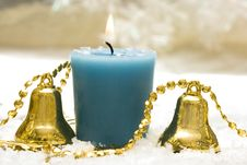 Festive New-year Candle Royalty Free Stock Photos