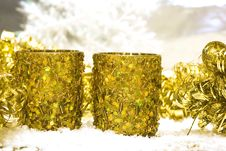 Festive New-year Candle Stock Photo