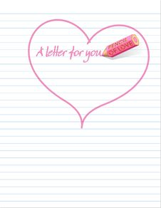 A Love Letter ... Stock Photo