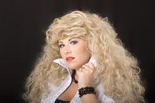 Free Blonde Collar With Eyes Stock Image - 3864591
