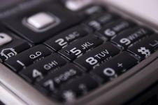 Free Mobile Keyboard Royalty Free Stock Image - 3865446