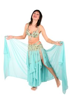Free Bellydance Woman Laughing Stock Photography - 3865472