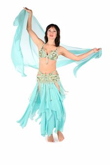 Free Bellydance Rotating Woman Stock Image - 3865511