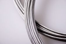 Free Silver Cables Royalty Free Stock Photo - 3865525