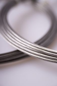 Free Silver Cables Royalty Free Stock Photos - 3865548