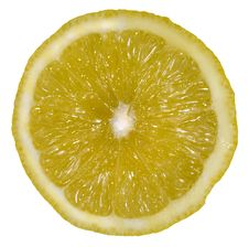 Free Lemon Slice Isolated On White Stock Image - 3865601