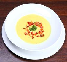 Creamy Cauliflower Soup Stock Photos