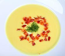 Creamy Cauliflower Soup Stock Image