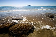 Free Early Morning Takapuna Beach Stock Images - 3865944