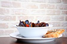 Mussels Saute (ragout) Stock Photography