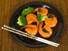 Ketchup Jumbo Shrimp Stock Image