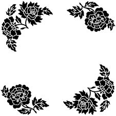 Free Flower Outline Royalty Free Stock Images - 3867009