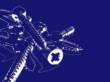 Free Screws Background Blue Royalty Free Stock Photo - 3867785