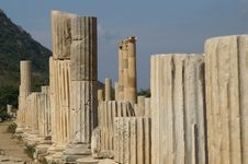 Ancient Ruins In Ephesus Stock Photography