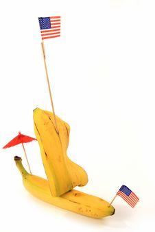 Free Banana Boat Isolated Stock Photography - 3869892