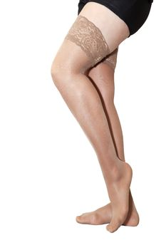 Free Female Legs In Nylon Stockings Royalty Free Stock Photos - 38643688