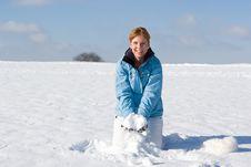 Free Throwing Snow Royalty Free Stock Photo - 3870285