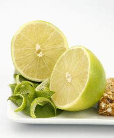 Free Lime And Granola Bar Royalty Free Stock Photo - 3872145