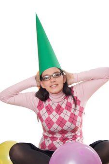 Free Girl Celebrating Her Birthday Stock Images - 3872504