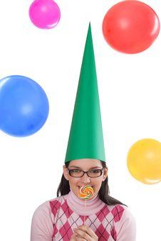 Free Girl Celebrating Her Birthday Stock Photo - 3872510