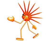 Mascot Sun 01 Stock Image