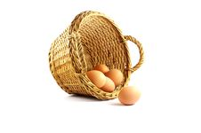 Few Eggs In A Basket Royalty Free Stock Photo