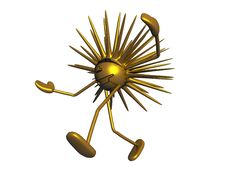 Mascot Sun 02 Royalty Free Stock Image