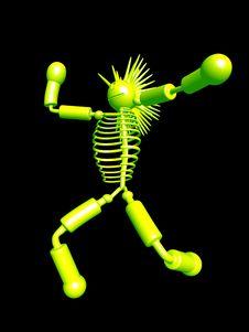 Free Mascot Dancing 01 Stock Image - 3873561