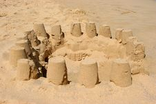Sand Castles Construction Royalty Free Stock Image