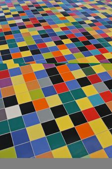 Free Perspective Of Colorful Mosaic Tiles Royalty Free Stock Image - 3874136