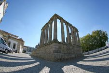 Free Fisheye Perspective Of A Roman Temple Royalty Free Stock Photography - 3874367