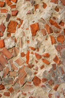 Free Wall Made Of Concrete And Brick Royalty Free Stock Image - 3874486