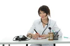 Free Young Doctor With Stethoscope Royalty Free Stock Photo - 3874815