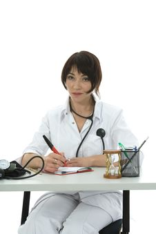Free Young Doctor With Stethoscope Royalty Free Stock Photography - 3874817