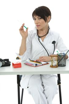 Free Young Doctor With Stethoscope Stock Photography - 3874852