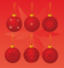 Free Christmas Balls Royalty Free Stock Photos - 3875168