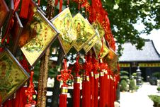 Free Wish Ties In Zhen Ru Old Temple Royalty Free Stock Photography - 3875707