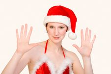 Free Studio Portrait Of A Christmas Faerie Counting 10 Royalty Free Stock Photography - 3877677