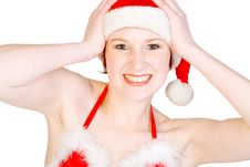 Free Studio Portrait Of An Enthusiastic Christmas Elf Royalty Free Stock Photography - 3877687