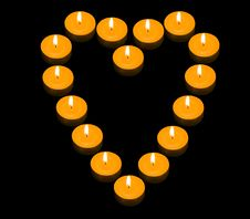 Free Heart Of Candles Stock Images - 3877754
