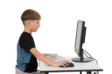 Free Boy On His Computer Royalty Free Stock Photos - 3878038