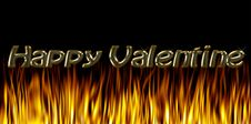 Free Burning Fire Of Love: Happy Valentine Royalty Free Stock Photo - 3878265