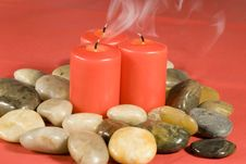 Smoking Candles Royalty Free Stock Images
