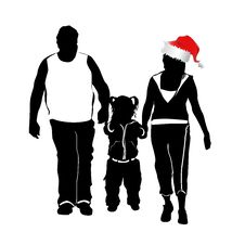Free Christmas Family 3 Royalty Free Stock Image - 3878746