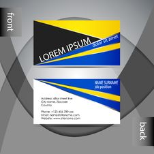 Free Business Card Template Or Visiting Card Set Stock Photos - 38726833